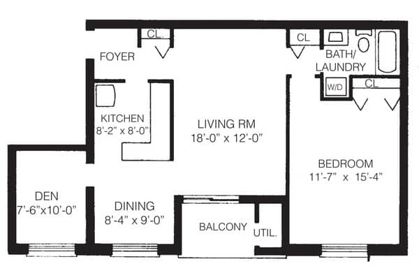 1-C One Bedroom with Den