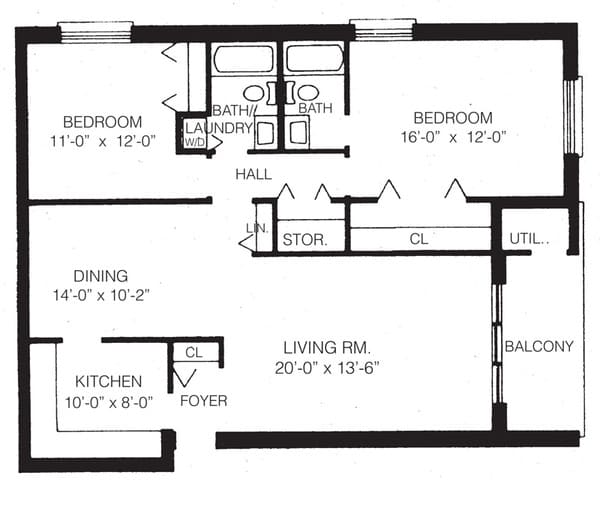 2-b two bedroom