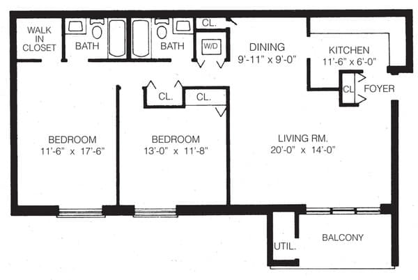 2-d two bedroom